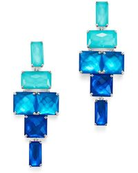 Ippolita | Sterling Silver Rock Candy® Stacked Rectangular Stone Earrings In Island | Lyst