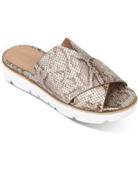 Gentle Souls by Kenneth Cole Lavern Cross - Band Slide Sandals - Brown