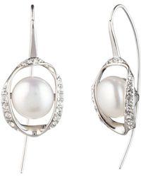 Carolee - Cultured Freshwater Pearl Threader Drop Earrings - Lyst