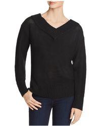 Aqua - V-back Tunic Sweater - Lyst