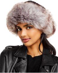 Surell Faux Fur Cuff Knit Hat - Black