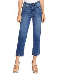 Vince Camuto Studded High - Rise Crop Straight Jeans In Spectrum Blue