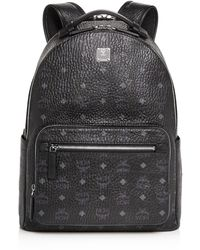 MCM Stark Monogram Backpack - Black