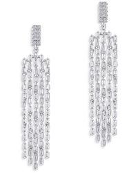 Bloomingdale's Diamond Fringe Drop Earrings In 14k White Gold