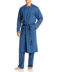 Daniel Buchler Peruvian Pima Cotton Robe - Blue