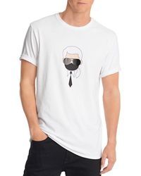 Karl Lagerfeld Karl With Mask Slim Fit Tee - White