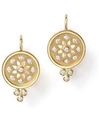 Temple St. Clair - 18k Gold Mandala Cutout Earrings With Diamonds - Lyst