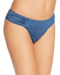 Lucky Brand All The Frills Side Sash Hipster (denim) Swimwear - Blue