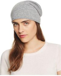 C By Bloomingdale's - C By Bloomingdales Cashmere Angelina Slouch Hat - Lyst