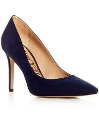 Sam Edelman Hazel Pointed Toe High - Heel Court Shoes - Blue
