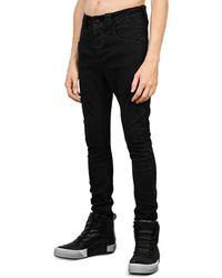 Thom Krom Stretch Denim Skinny Jeans - Black