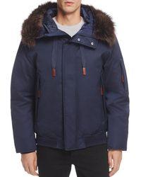 Andrew Marc - Alpine Hooded Bomber Jacket - Lyst