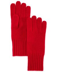 C By Bloomingdale's Cashmere Gloves - Red