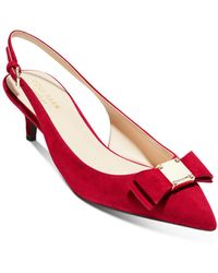 Cole Haan Tali Bow Slingback Pump - Red