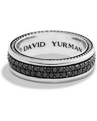 David Yurman - Streamline Two-row Band Ring With Black Diamonds - Lyst