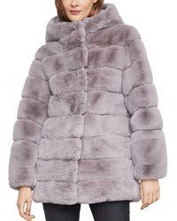 BCBGMAXAZRIA Felicia Faux Fur Hooded Coat - Multicolor
