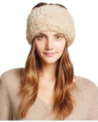 Maximilian Knit Mink Fur Headband - 100% Exclusive - Natural