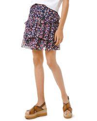 MICHAEL Michael Kors Garden Patch Ruffled Skirt - Multicolor
