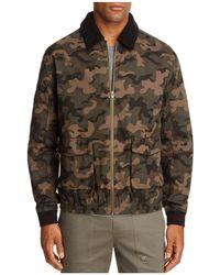 Zanerobe Camouflage Sherpa-collar Jacket - Green