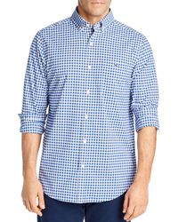 Vineyard Vines Checked Evernia Tucker Classic - Fit Button - Down Shirt - Blue