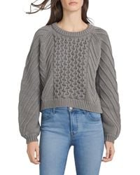 J Brand Zuri Fisherman Sweater - Gray