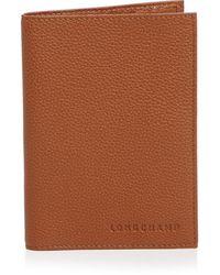 Longchamp Le Foulonné Passport Wallet - Brown