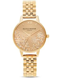 Olivia Burton Ob16mv105 Bejewelled Lace Ionic-plated Stainless Steel Watch - Metallic