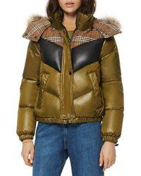 Marc New York Nadir Faux Fur Trim Hooded Puffer Coat - Green