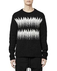 Thom Krom Jacquard Crewneck Sweater - Black