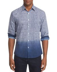 Michael Kors - Slim Fit Dip-dye Gingham Button-down Shirt - Lyst