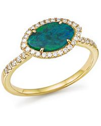 Meira T - 14k Yellow Gold Opal Marquise Ring With Diamonds - Lyst