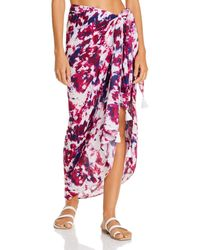 Aqua Swim Sarong Skirt Swim Cover - Up - Pink