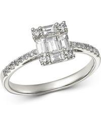 Bloomingdale's Diamond Baguette Engagement Ring In 14k White Gold