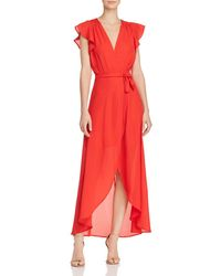 PPLA - Positano Ruffled Wrap Maxi Dress - Lyst