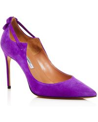 Brian Atwood - Women's Veruska Suede Pointed Toe Court Shoes - Lyst