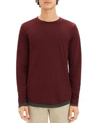 Theory - Double-layer Long Sleeve Tee - Lyst