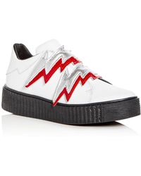 Modern Vice - Women's Bolt Embellished Leather Creeper Sneakers - Lyst
