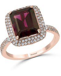 Bloomingdale's Rhodolite & Diamond Ring In 14k Rose Gold - Metallic