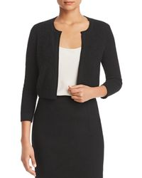 C By Bloomingdale's Cashmere Bolero - Black