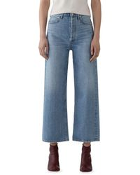 Agolde Blur Ren High - Rise Cropped Wide - Leg Jeans - Blue