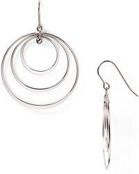 Bloomingdale's - Sterling Silver Triple Circle Drop Earrings - Lyst