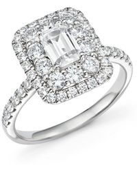 Bloomingdale's Emerald - Cut Diamond Engagement Ring In 14k White Gold