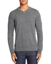 Theory Hilles Cashmere V - Neck Sweater - Gray