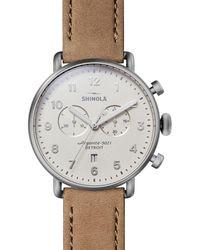 Shinola The Canfield Chronograph - Metallic