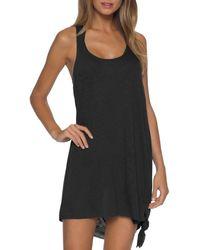 Becca Breezy Basics Twist Back Dress Swim Cover - Up - Black