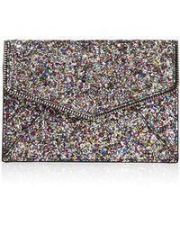 Rebecca Minkoff Glitter Leo Clutch - Metallic