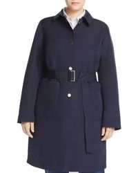 Marina Rinaldi Tabella Belted Raincoat - Blue