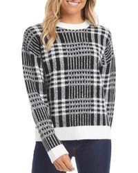 Karen Kane Plaid Pullover Jumper - Black