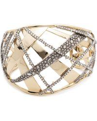 Alexis Bittar - Crystal Crosshatch Cuff Bracelet - Lyst