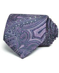 Bloomingdale's - Monochrome Paisley Wide Tie - Lyst